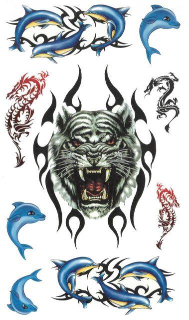 Tatuaj temporar -animals- 17x10cm