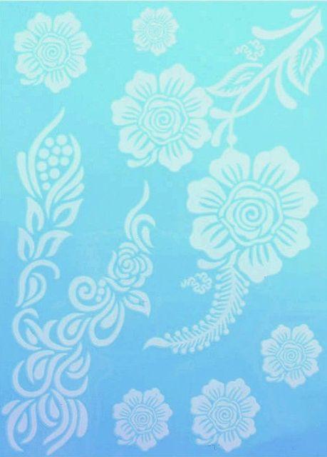 Tatuaj temporar - Flori albe - 15x21 cm