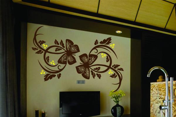 Sticker De Perete Fluturi Florali