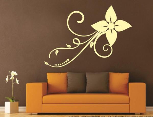 Sticker Decorativ Floare De Perete 1