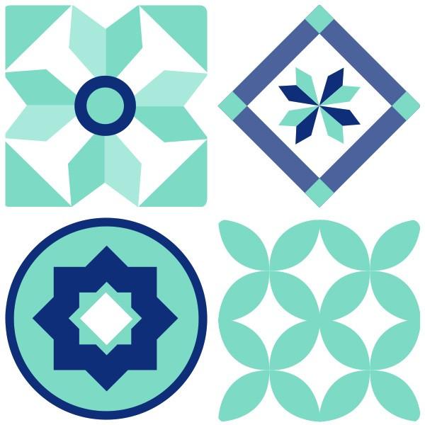 Sticker decorativ imitatie faianta model mix