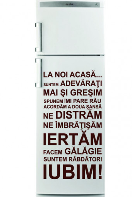 Sticker Frigider - La Noi Acasa