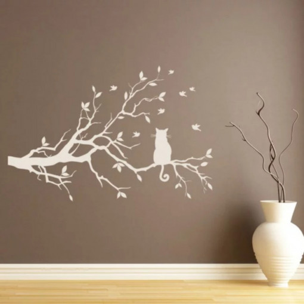 Sticker Tree Branch Cat