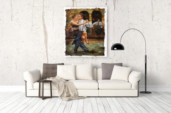 Tablou canvas efect pictura - Dans tango