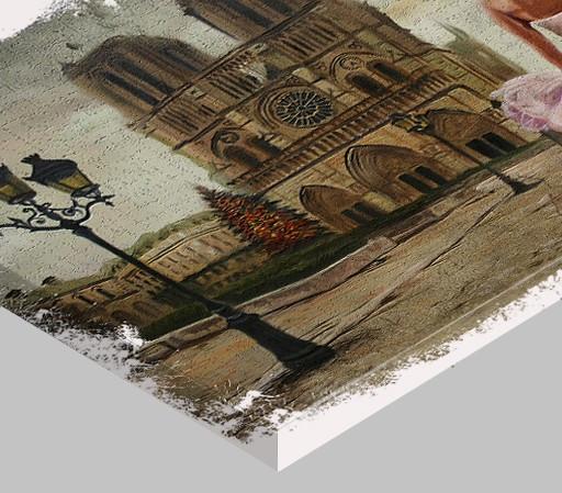 Tablou canvas efect pictura - Notre Dames