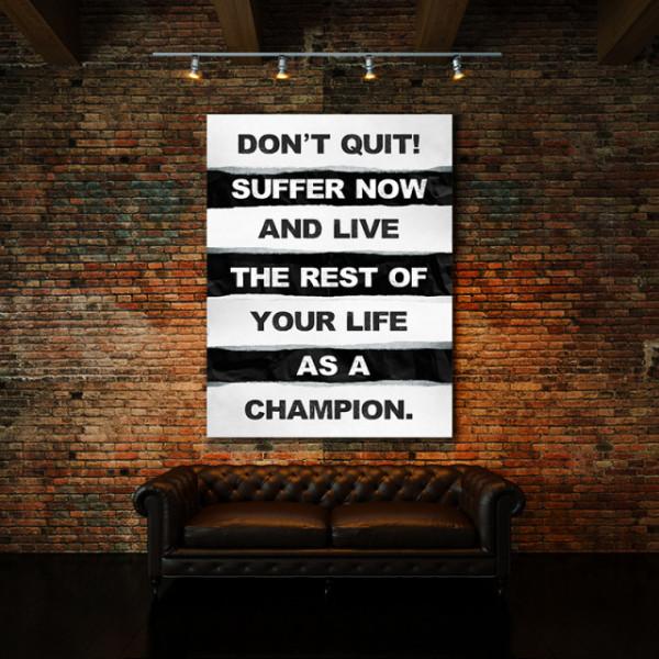Tablou motivational - Don't quit (ripped paper)
