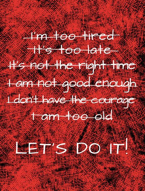 Tablou motivational - Let's do it!