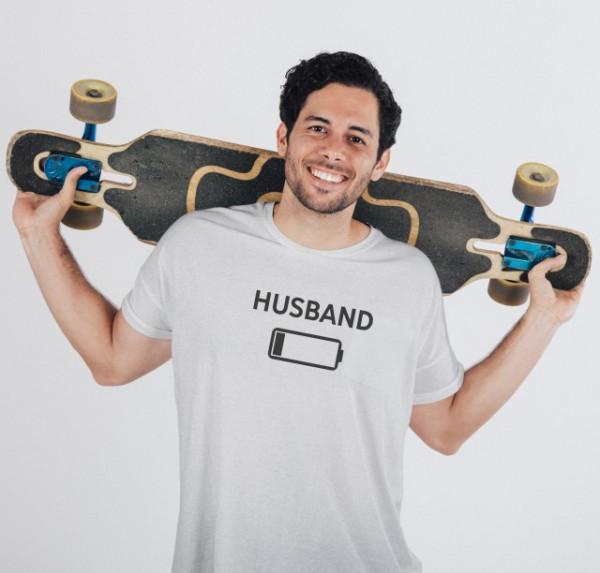 Imprimeu tricou HUSBAND - LOW BATTERY