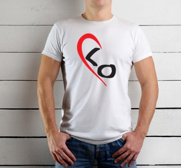 Imprimeu tricou LOVE (EL) - JUMATATE DE INIMA