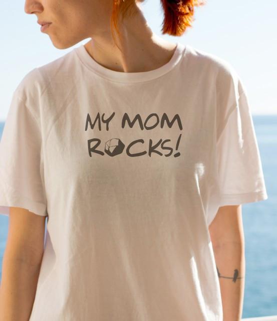 Imprimeu tricou MY MOM ROCKS