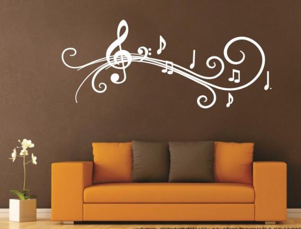 Sticker De Perete Abstract Muzical
