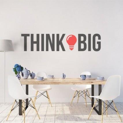 Sticker De Perete Litere Think Big