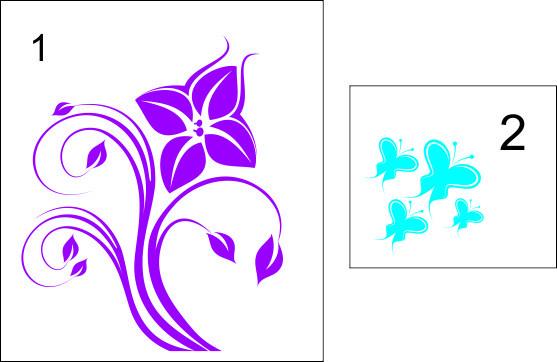 Sticker laptop - floare 02