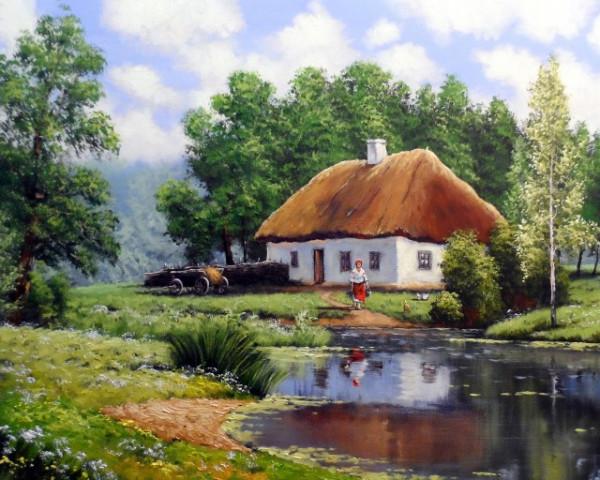 Tablou canvas efect pictura - Casa la tara
