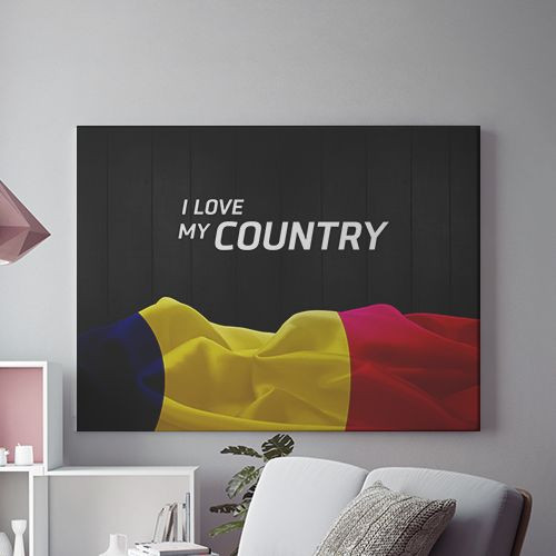 Tablou Canvas I love my country
