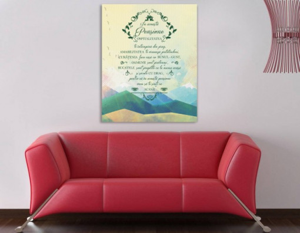 Tablou canvas - In Acesta Pensiune Peisaj Montan