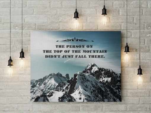 Poze Tablou canvas motivational - Top of the Mountain