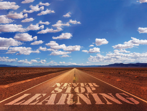 Tablou motivational - Never stop learning