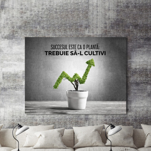 Tablou motivational - Succesul este ca o planta