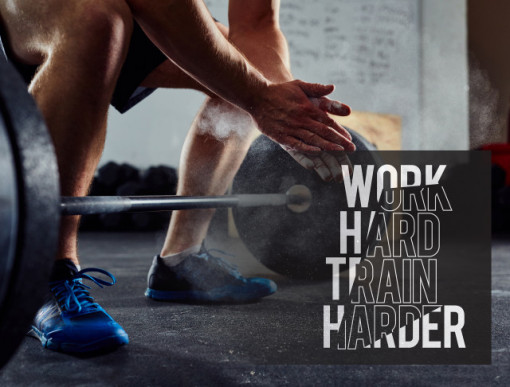 Tablou motivational - Work hard, train harder