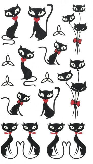 Tatuaj temporar -Cats- 17x10cm