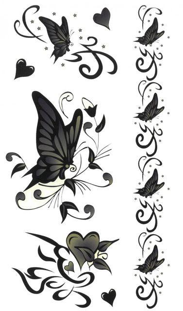 Tatuaj temporar -love butterflies- 17x10cm