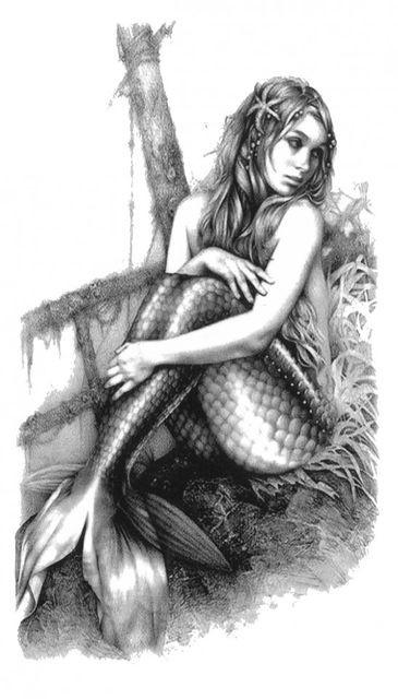 Tatuaj temporar -sirena- 17x10cm