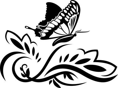 Floare cu fluture