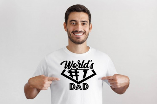 Imprimeu tricou Worlds no 1 dad