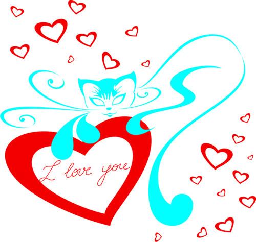 Pisica cu inima