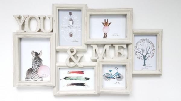 Rama fotografica de perete 6 poze You & Me