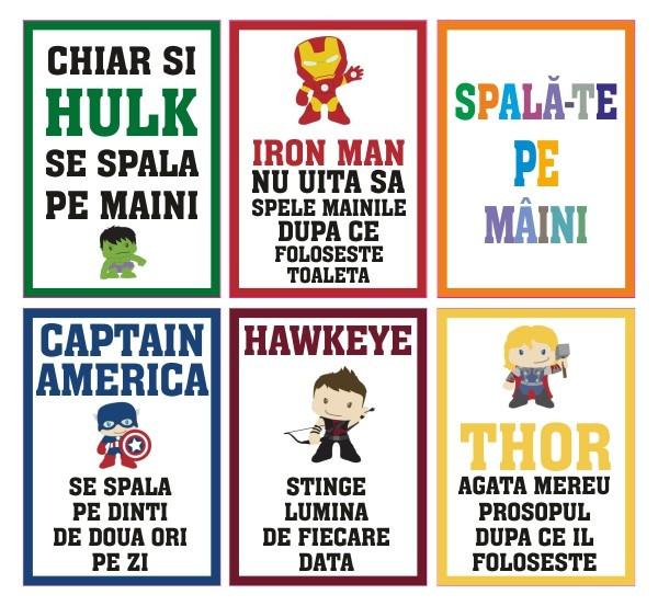 Set stickere - spala-te pe maini pentru copii