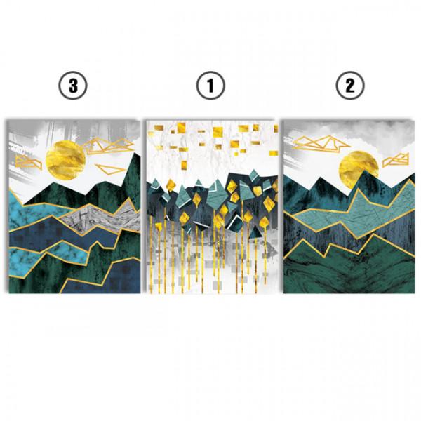Set tablouri canvas - Abstract mountain