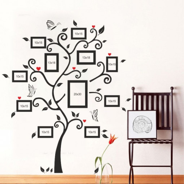Sticker De Perete Copac Cu Poze De Familie