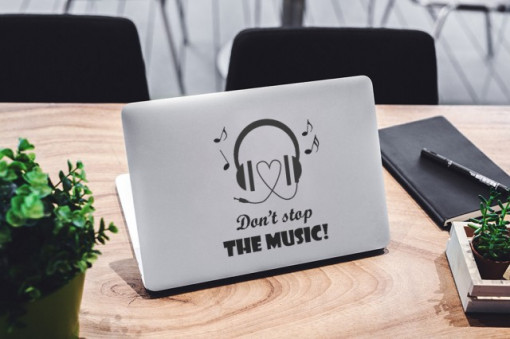Sticker laptop - Don't stop the Music