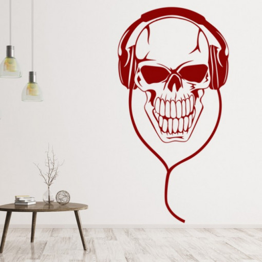 Sticker Skull Headphones