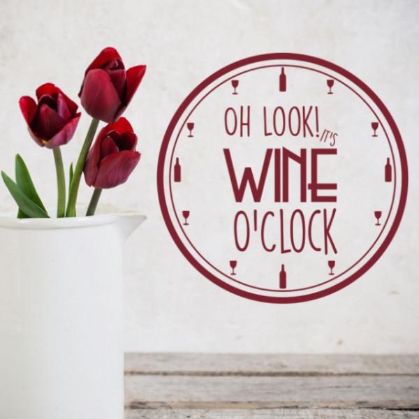 Sticker Wine O'Clock