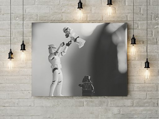 Storm troopers and Darth Vader