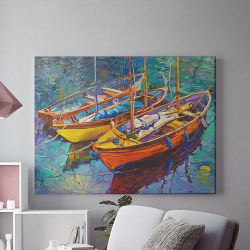 Tablou Canvas Barci pe o apa linistita