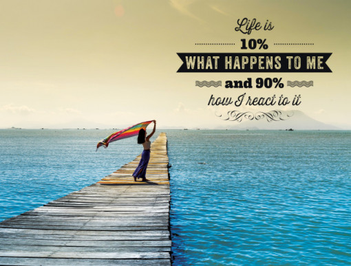 Tablou motivational - Life is what happens to me