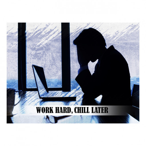 Tablou motivational - Work hard, chill later