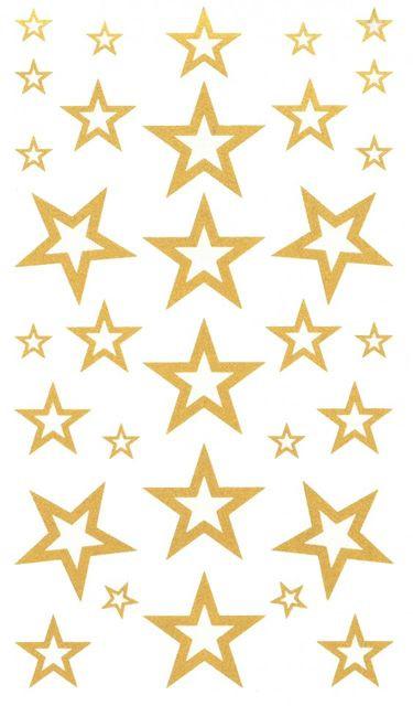 Tatuaj temporar -stele aurii- 17x10cm