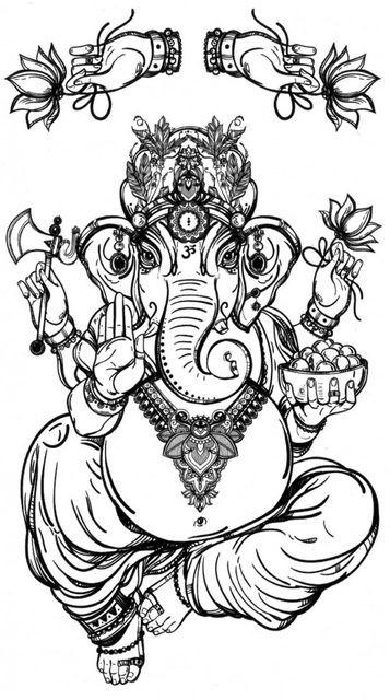 Tatuaj temporar -Zeu Indian - Ganesha- 17x10cm