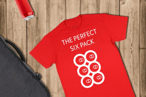 Poze Imprimeu tricou THE PERFECT SIX PACK