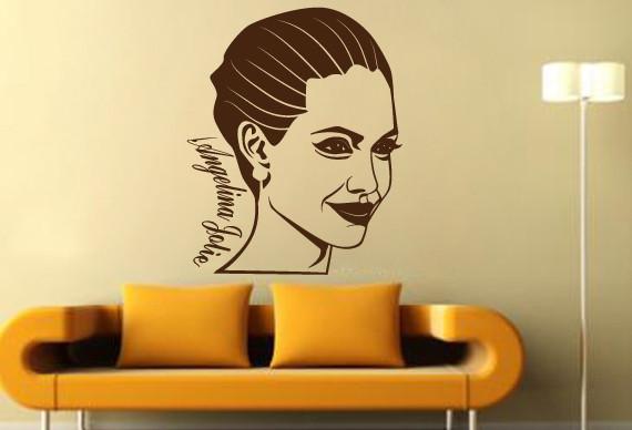 Sticker De Perete Angelina Jolie 2