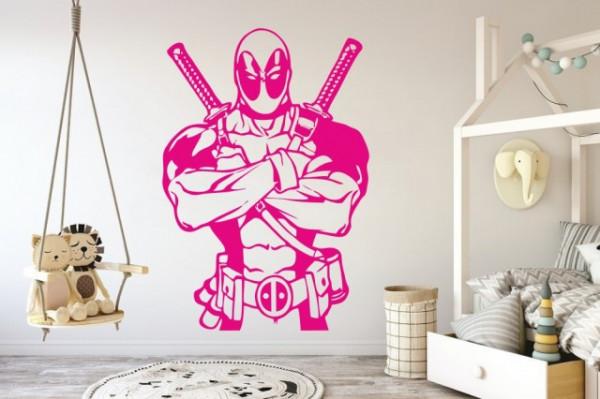 Sticker De Perete Deadpool - Super Erou