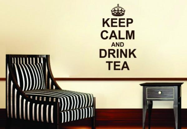Sticker De Perete Keep Calm And Drink Tea
