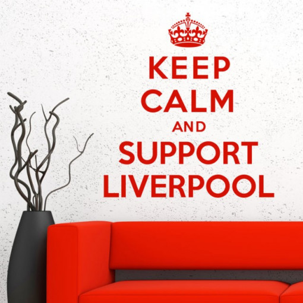 Sticker De Perete Keep Calm And Support Liverpool