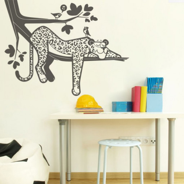 Sticker De Perete Leopard Dormind