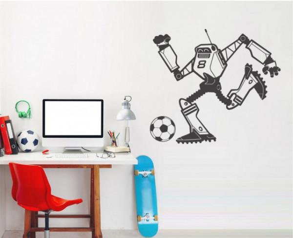 Sticker De Perete Robot Fotbalist 1